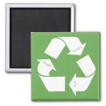 Recycle Symbol 2 Inch Square Magnet