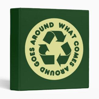 Recycle Symbol 3 Ring Binder