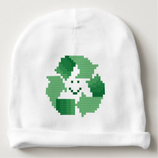 Recycle symbol baby beanie