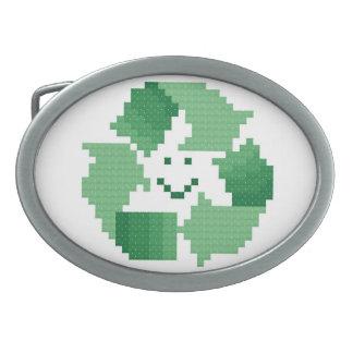 Recycle Symbol Belt Buckle