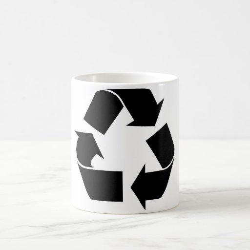 Recycle Symbol Black Coffee Mug