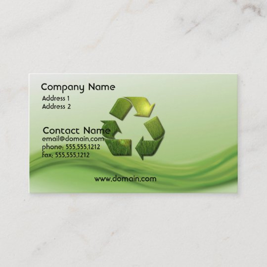 Recycle symbol business card zazzle recycle symbol business card colourmoves
