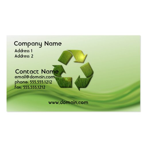 Recycle Symbol Business Card