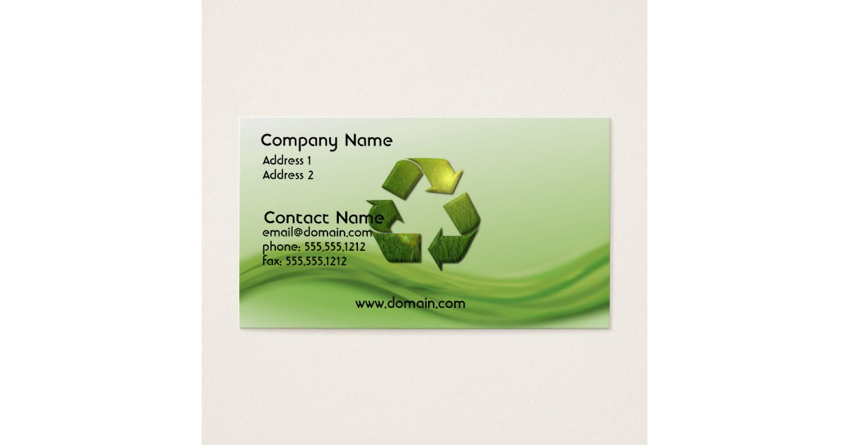 Recycle symbol business card zazzlecom for Go business cards