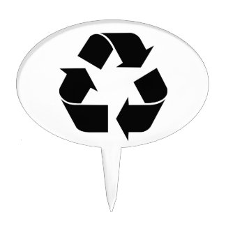 Recycle Symbol Cake Topper