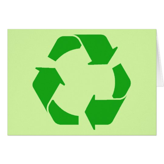 Recycle Symbol Card