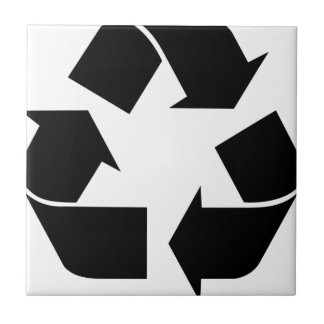 Recycle Symbol Ceramic Tile