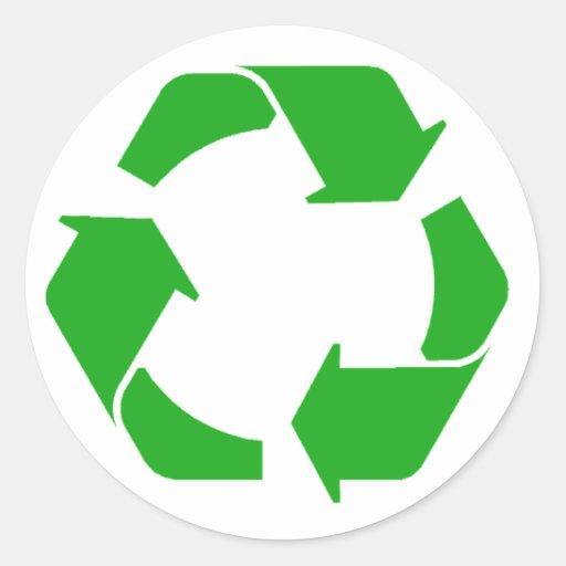 Recycle Symbol Classic Round Sticker