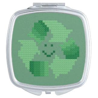 Recycle Symbol Compact Mirror