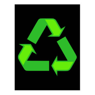 Recycle Symbol Design Postcard