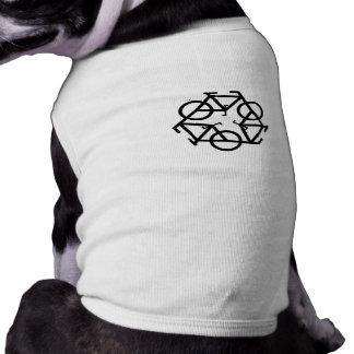 Recycle symbol dog shirt