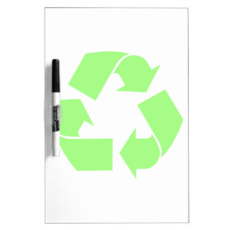 Recycle Symbol Dry Erase Board