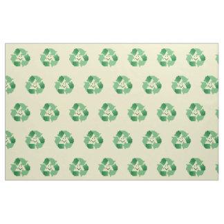 Recycle symbol fabric