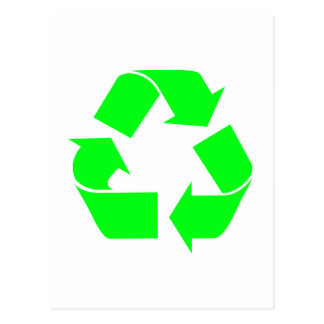 Recycle Symbol Green Postcard