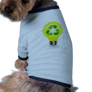 Recycle symbol in a bulb pet shirt