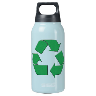 RECYCLE SYMBOL INSULATED WATER BOTTLE
