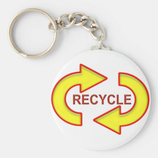 Recycle Symbol Keychain