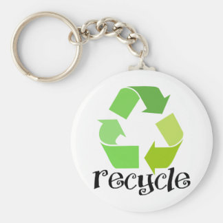 Recycle Symbol! Keychain