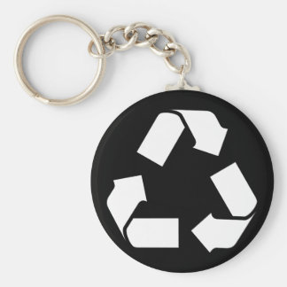 RECYCLE SYMBOL KEYCHAIN