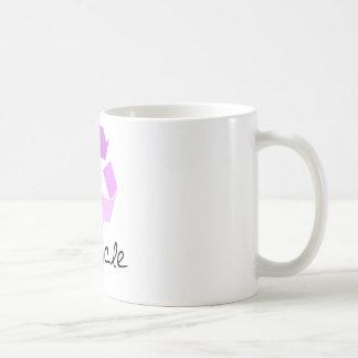 Recycle symbol! lilac design! coffee mugs