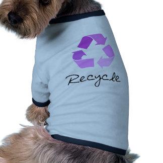 Recycle symbol! lilac design! dog shirt