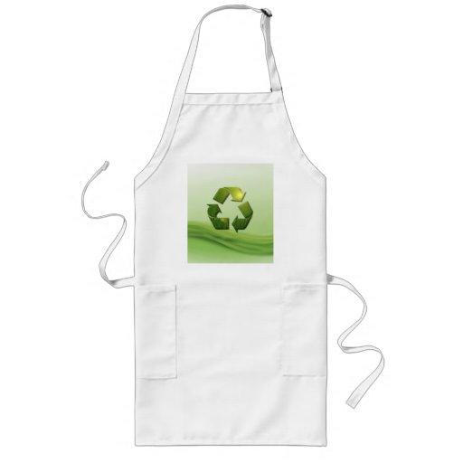 Recycle Symbol Long Apron