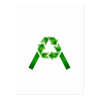 Recycle symbol made like letter A Postcard