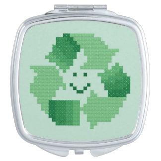 Recycle Symbol Makeup Mirror