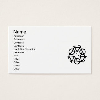 Recycle symbol, Name, Address 1, Address 2, Con... Business Card