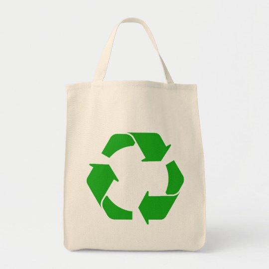 Recycle Symbol Organic Tote Bag