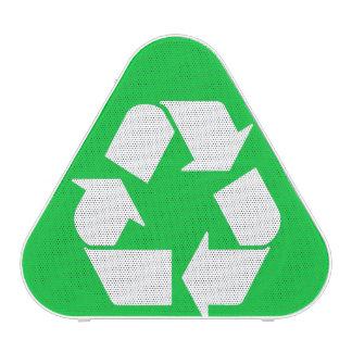 Recycle symbol speaker