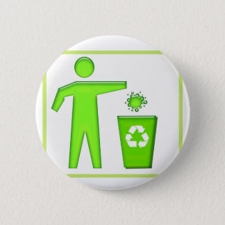 Recycle Symbol Pinback Button