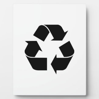 Recycle Symbol Plaque
