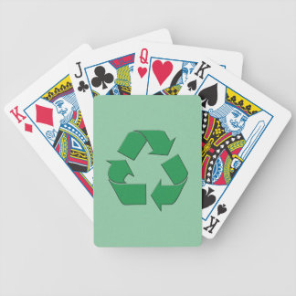 RECYCLE SYMBOL BICYCLE POKER CARDS