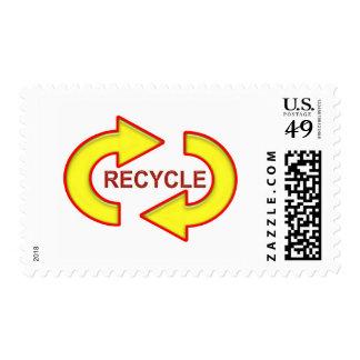 Recycle Symbol Postage