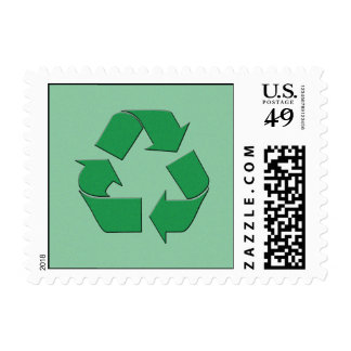 RECYCLE SYMBOL POSTAGE STAMP