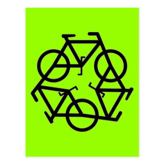 Recycle symbol postcard