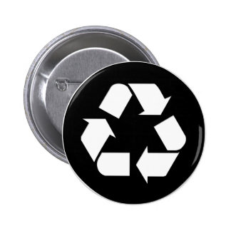 Recycle Symbol - Reduce, Reuse, Recycle 2 Inch Round Button