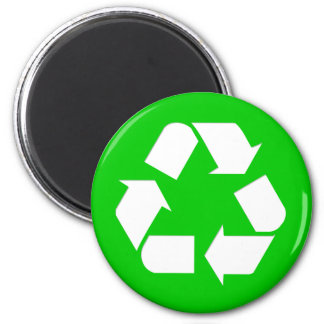 Recycle Symbol - Reduce, Reuse, Recycle 2 Inch Round Magnet