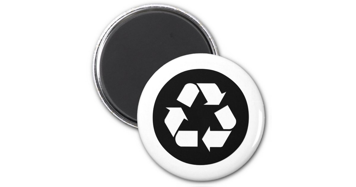 Recycle Symbol Reduce Reuse Recycle Magnet Zazzle