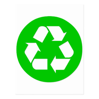 Recycle Symbol - Reduce, Reuse, Recycle Postcard