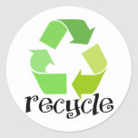 Recycle Symbol! Round Stickers