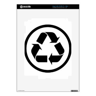 Recycle Symbol Skin For iPad 2