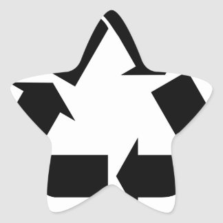 Recycle Symbol Star Sticker