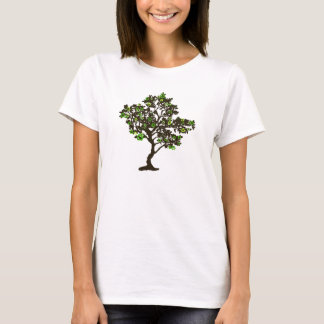 Recycle Symbol Tree Womens T-shirt