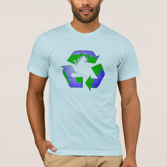 Recycle Symbol with Earth Shirt