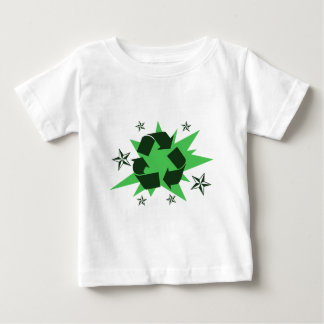 Recycle Symbol with Stars Baby T-Shirt