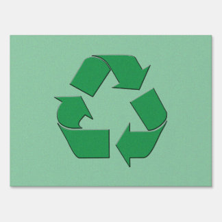 RECYCLE SYMBOL YARD SIGNS