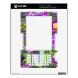 Recycle symbols on purple flowers skins for kindle