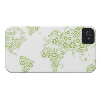 Recycle symbols used to create the planet Case-Mate iPhone 4 cases